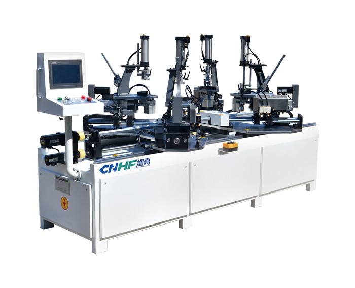 Four Angles Nailing Joining Machine For Wooden Frame