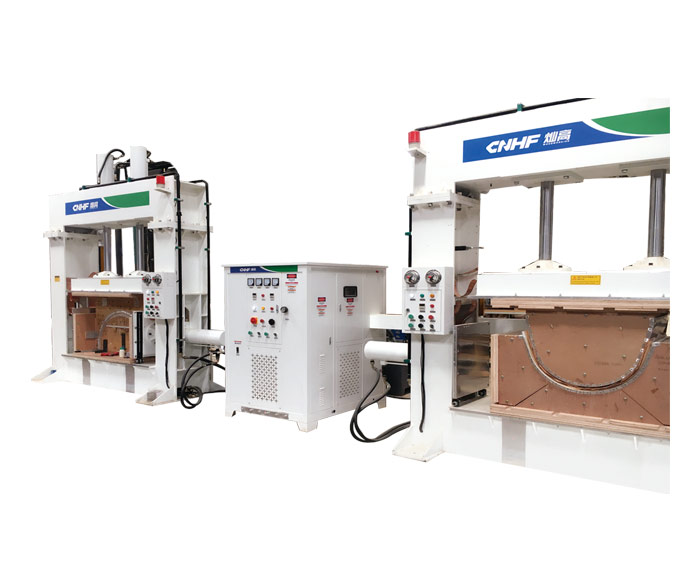 One-drive-two HF(RF) Hot Press Machine For Wood Bengding & Forming(Three-direction)