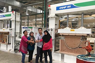 HF hot press machine scene in Indonesia
