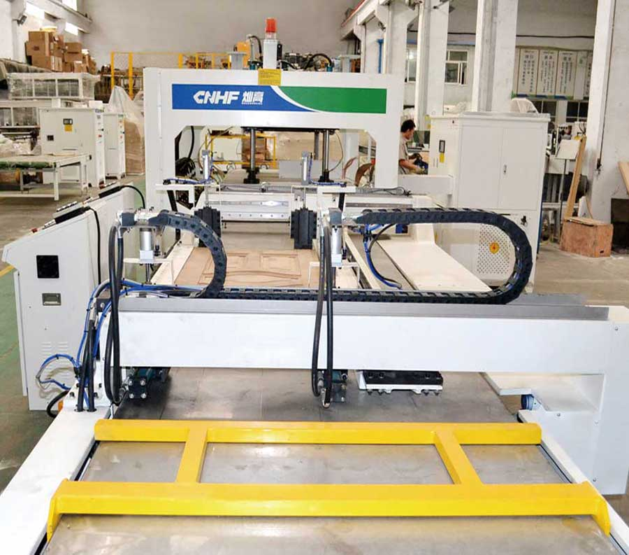 HF(RF)Pass-Through Type Wooden Board Joining and Frame Joining Machine