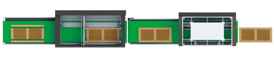 Flexible Pass-Through Type Framing Machine